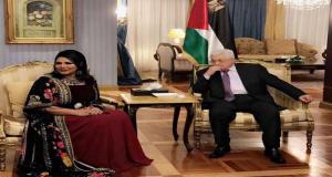 أحلام في ضيافة الرئيس الفلسطيني محمود عباس%8