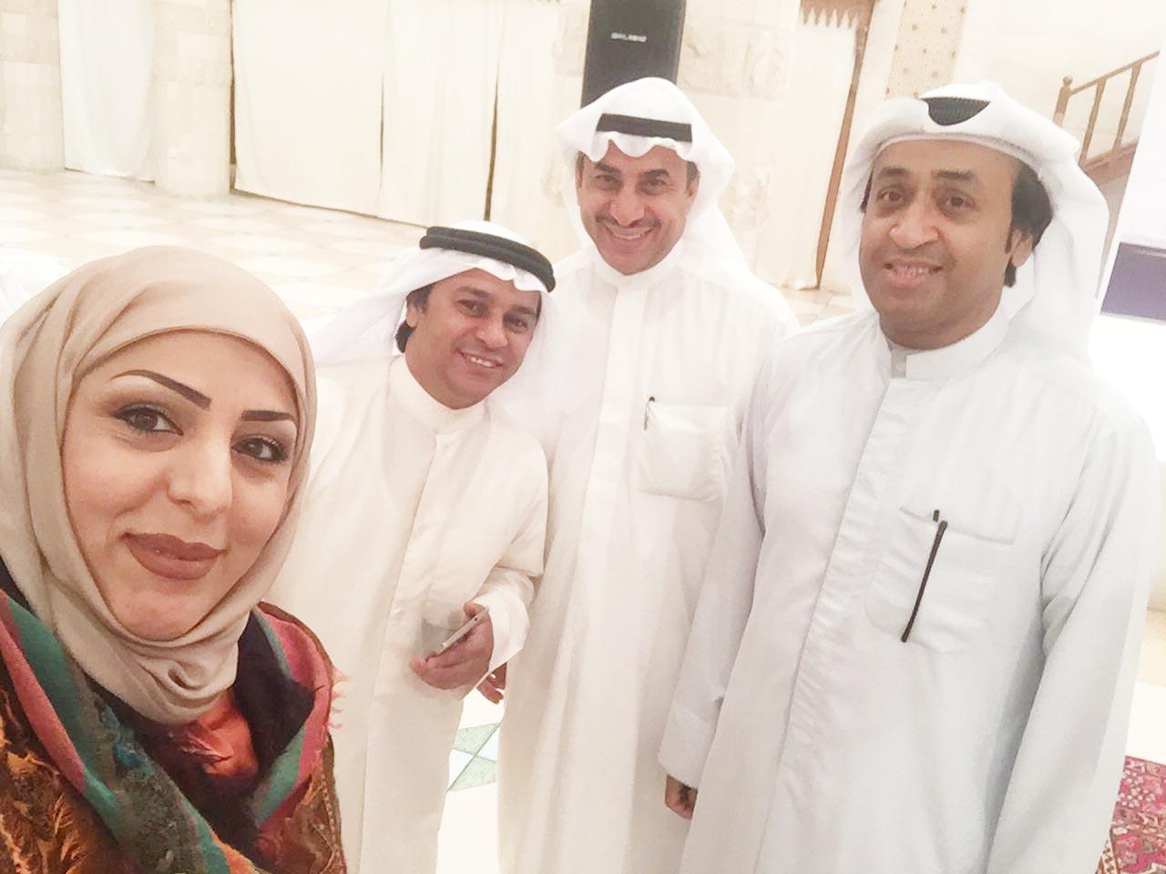 المخرج خالدالراشد والإعلامي حامد العميري والفنان جاسم عباس والناشطة الاجتماعية عبير الجمعة