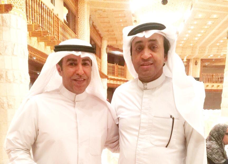 المخرج خالدالراشد والمحامي خالد العضيلة رئيس تحرير جريدة خبر عاجل