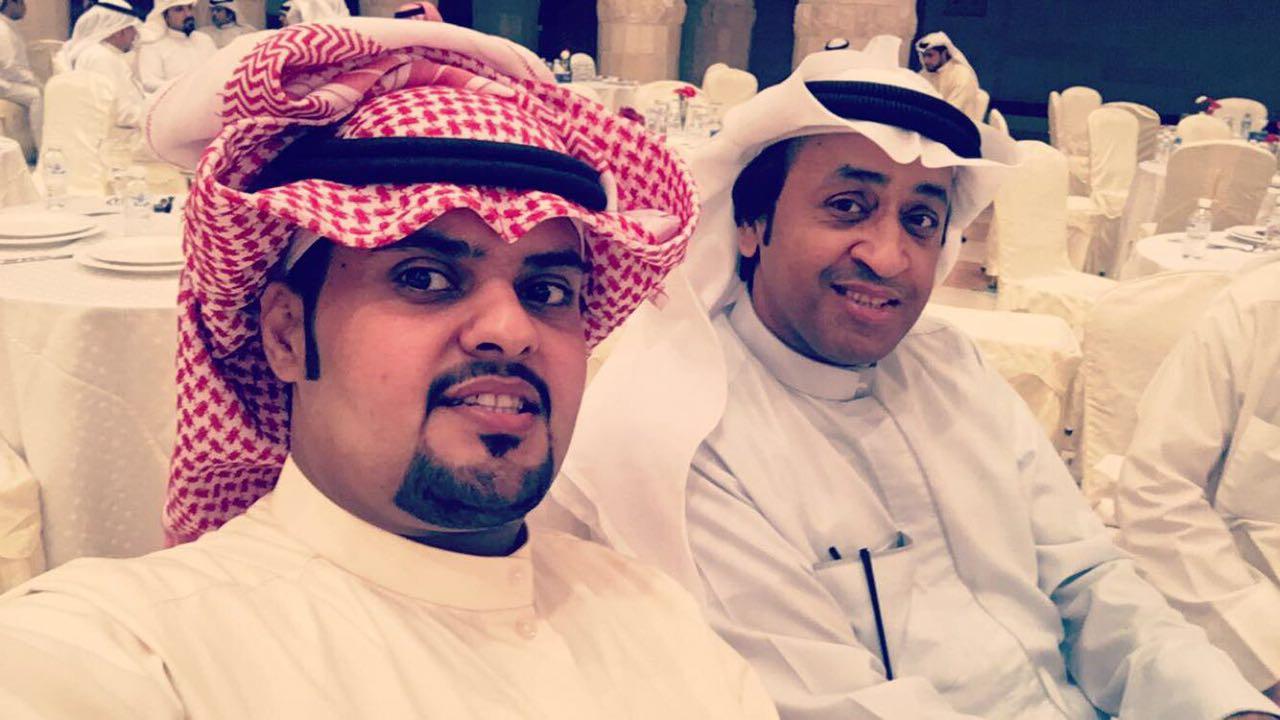 المخرج خالدالراشد والشاعر فهد الخلاوي