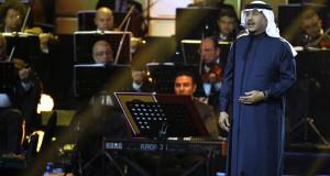 Saudi Arabian singer Mohammed Abdu peforms during a concert in Riyadh
