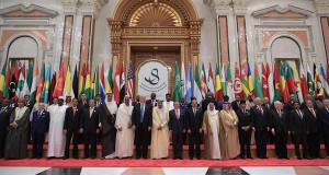 صورة جماعية لقادة القمة الاسلامية الامريكية