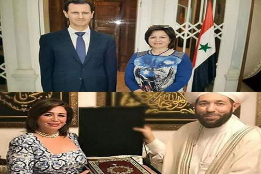 إلهام شاهين وبشار الاسد