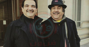 صورة أرشيفية حديثة للفنان عبدالحسين عبدالرضا و ابنه الدكتور العقيد بشار
